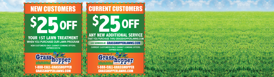 Grasshopper Lawns April Specials